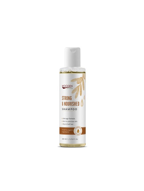 Козметика Wooden Spoon Wooden Spoon Био Шампоан за суха коса Strong and nourished 200 ml 8.574966 1