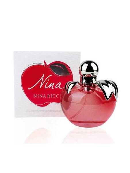 Дамски парфюми Nina Ricci Nina Ricci Nina Eau de Toilette 50 ml за жени 58.5 Nina- парфюм с цветно-плодов аромат. Осезаеми акор