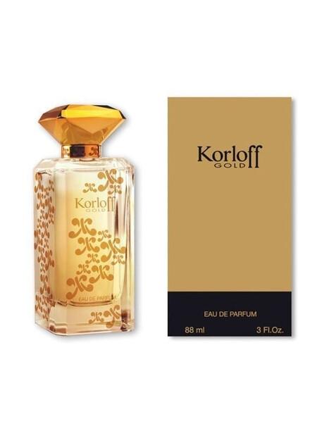 Дамски парфюми Korloff Korloff Korloff Gold Eau de Parfum 88 ml за жени 54 Korloff Gold- парфюм с езотични нотки, вдъхновен от