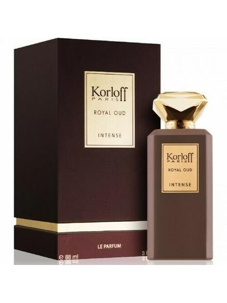 Мъжки парфюми Korloff Korloff Royal Oud Intense Eau de Parfum 88 ml за мъже 65.25 Royal Oud Intense -комбинация от цветни и дър
