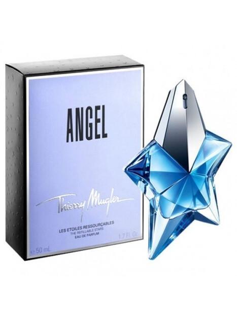 Дамски парфюми Thierry Mugler Angel Eau de Parfum 50 ml за жени 110.25 Angelе ванилово-ориенталски аромат. Парфюм с цветно уха