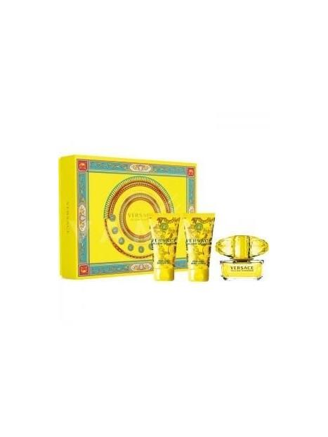Подаръчни комплекти Versace Versace Yellow Diamond EDT 50 ml + SG 50 ml + BL 50 ml Gift Set за жени 58.500001 Комплектът съдържа