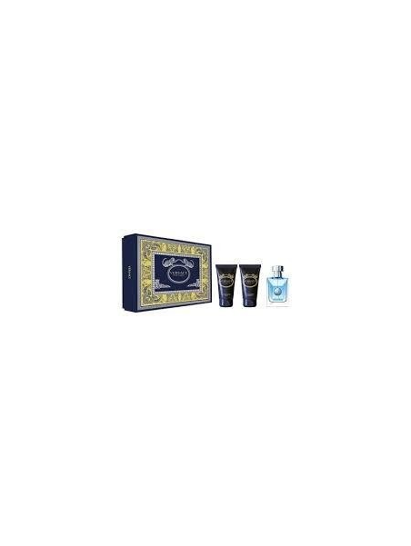 Подаръчни комплекти Versace Versace Pour Homme Eau de Toilette 50 ml + ASB 50 ml + SG 50 ml за мъже 59.250001 Комплектът съдържа