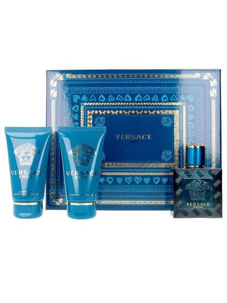 Подаръчни комплекти Versace Versace Eros EDT 50 ml + ASB 50 ml + SG 50 ml за мъже 57.75 Комплектът съдържа тоалетна вода Versace
